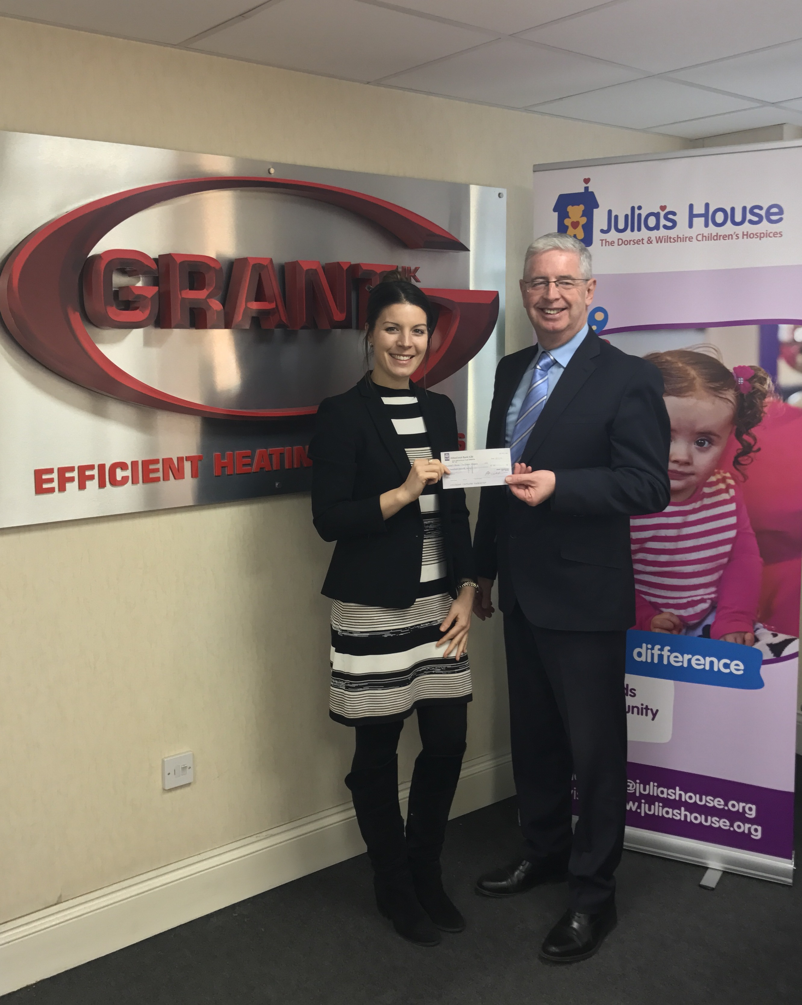 Grant UK raises £500 for local charity in December