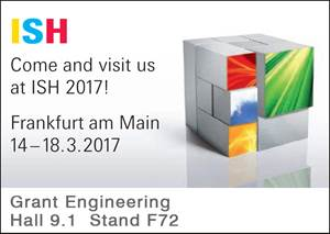 Grant Engineering will be exhibiting at ISH 2017