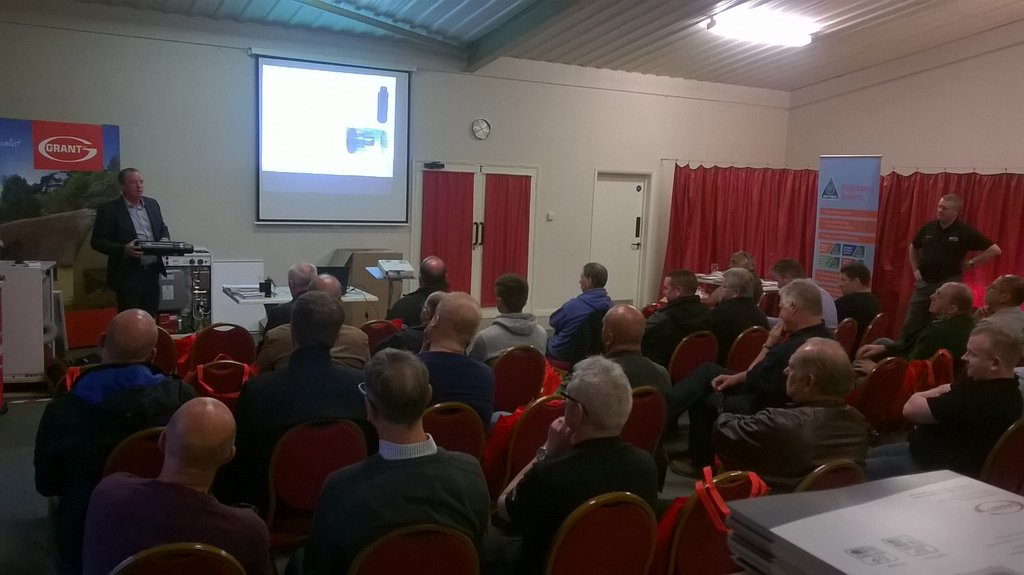 Grant UK Installer Evenings spread the word with engineers