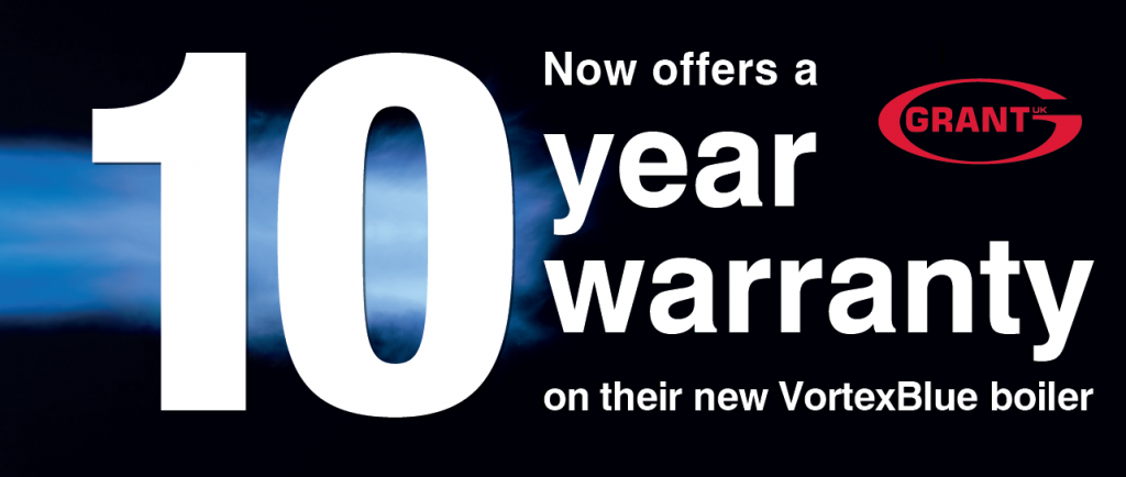 Grant announces industry leading 10 Year Warranty on VortexBlue oil boiler range