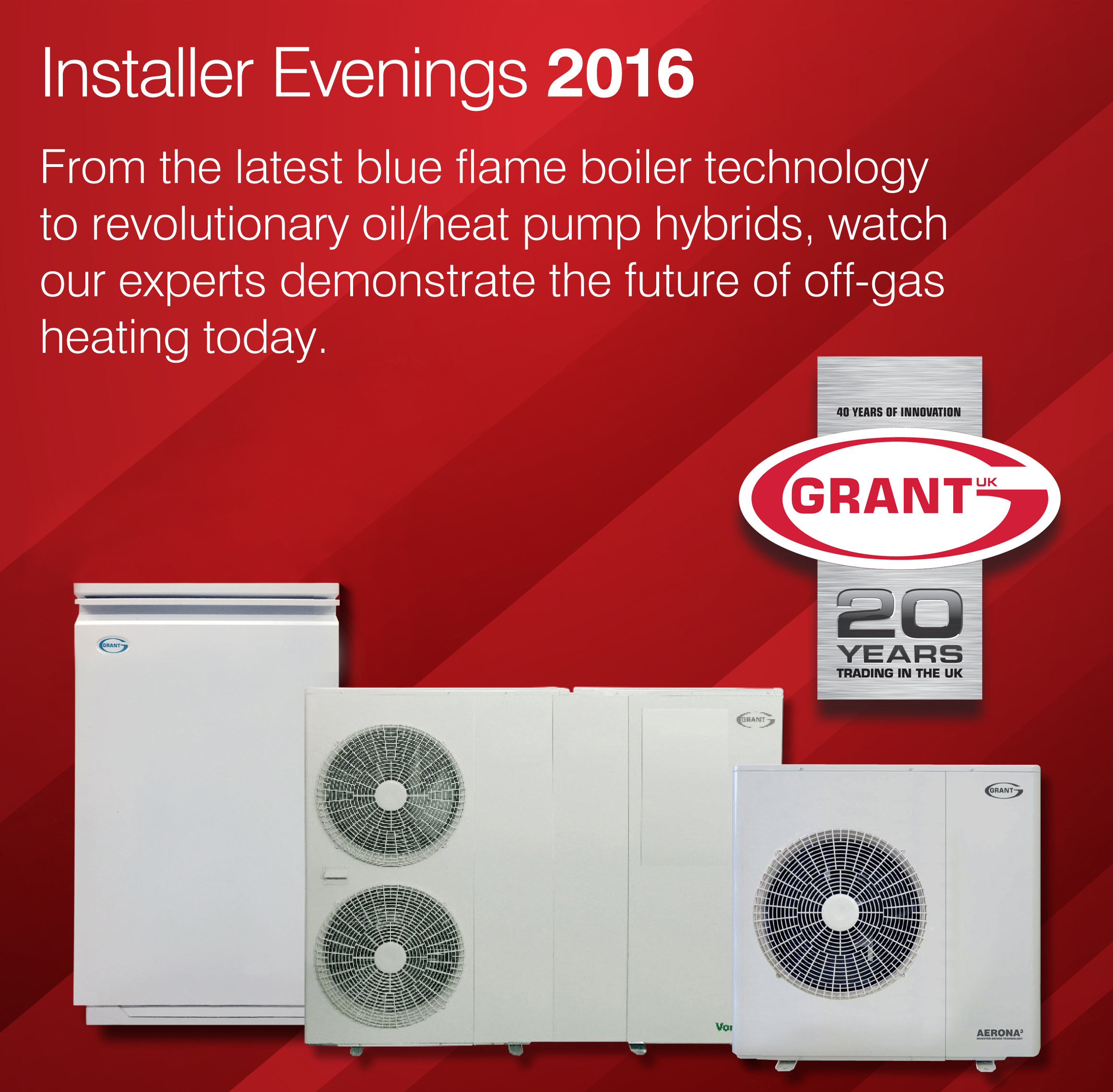 The next generation of off-gas heating: Grant UK to host series of technical evenings