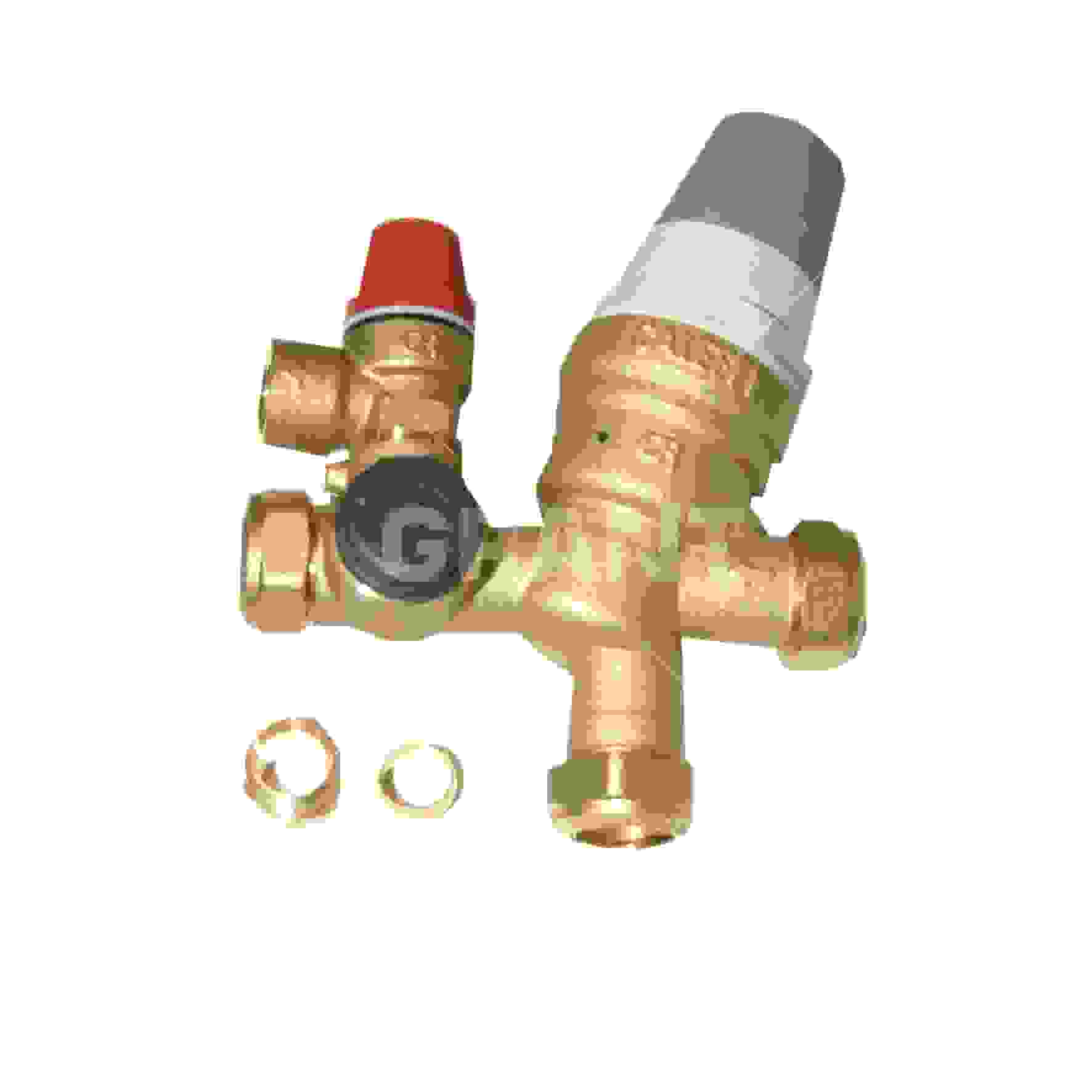 Pressure Reducing Inlet Manifold  22mm  C  W 3 Bar Prv And