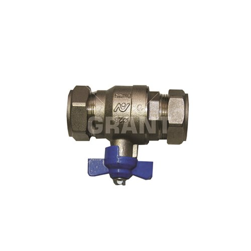 Isolation Valve 28mm (blue handle)