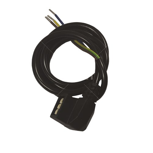 Black HE heat only Pump Cable with plug (800mm)