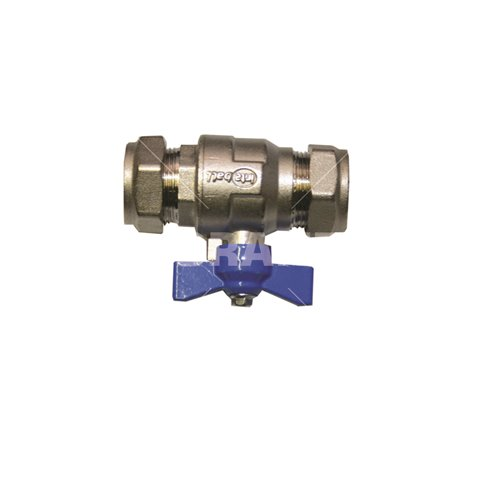 Isolation Valve 22mm (blue handle)