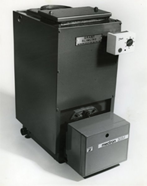 First slimline boiler. This was later known as the Euroflame range.