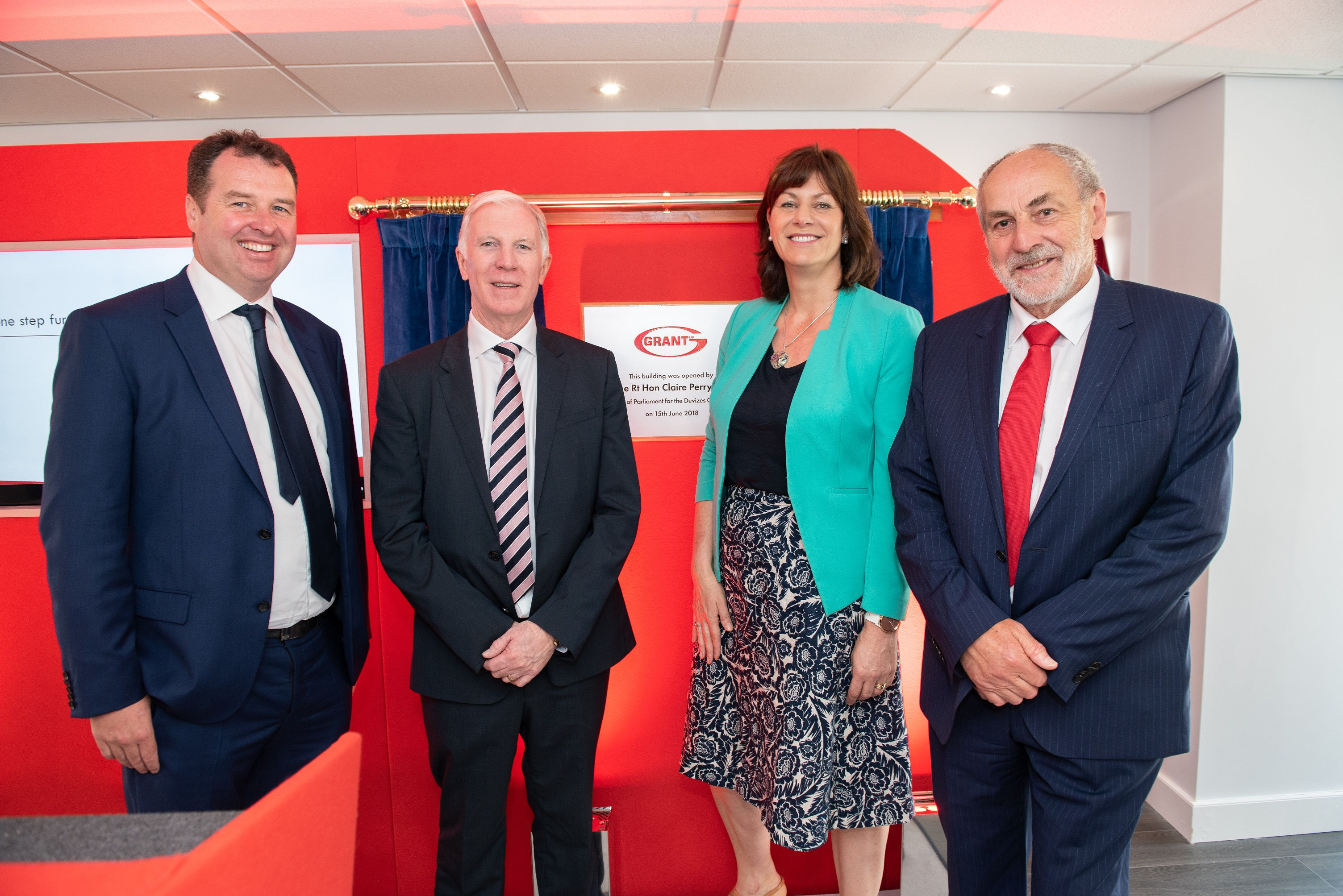 Claire Perry MP officially opens Grant UK's new Showroom and Meeting Suites