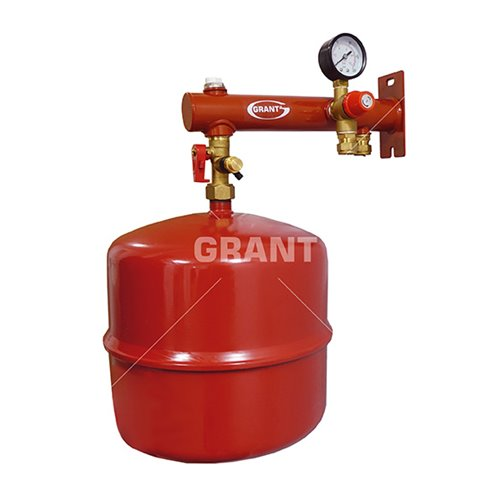 18 litre expansion vessel with wall bracket & fixings