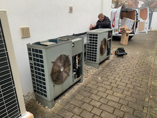 One pair of Grant heat pumps for another pair!
